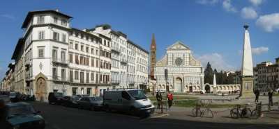 Panoramica della Piazza di Santa Maria Novella